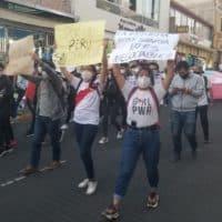 Banderolles des manifestants