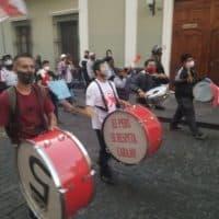 Tambours ouvrant la manifestation