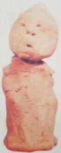 Kotosh Figurine en terre retrouvée près du Temple des Mains Croisées