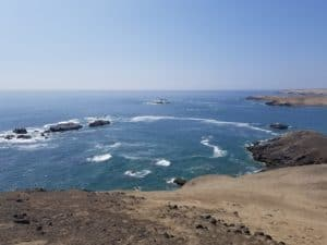 L'océan vue depuis las Aldas à la Gramita