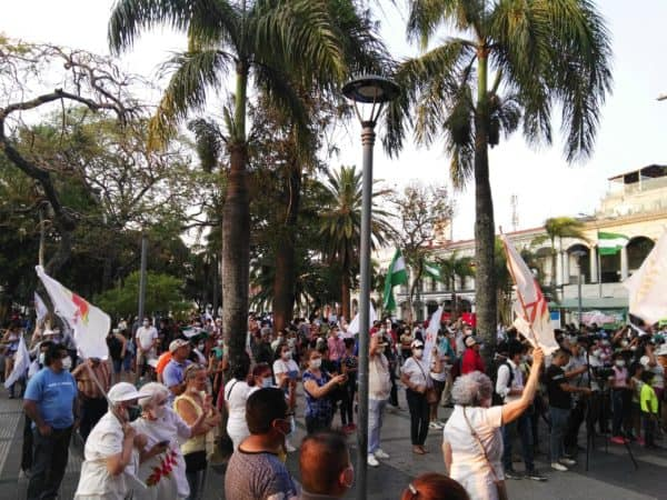 marche indigene bolivie rue