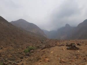 Vue sur la zone des pétroglyphes de Checta