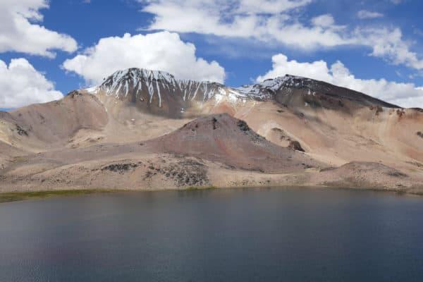 Troisième lagune du tour des trois lagunes au Sajama, Bolivie