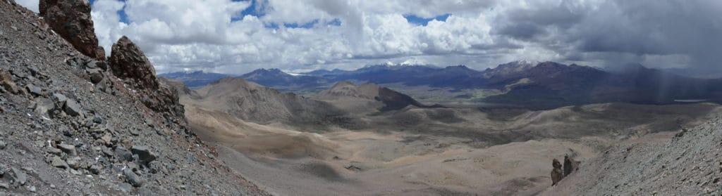 Vue panoramique depuis le Sajama, Bolivie
