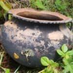 Chachapoyas Vase trouvé sur le chemin de Guishoc