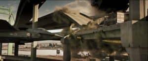 die hard avion fonçant sur camion