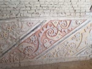 Bas-Relief motifs poissons Huaca Cao Vieja el Brujo