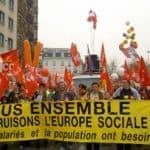 Manifestation tous ensemble construisons l'europe sociale