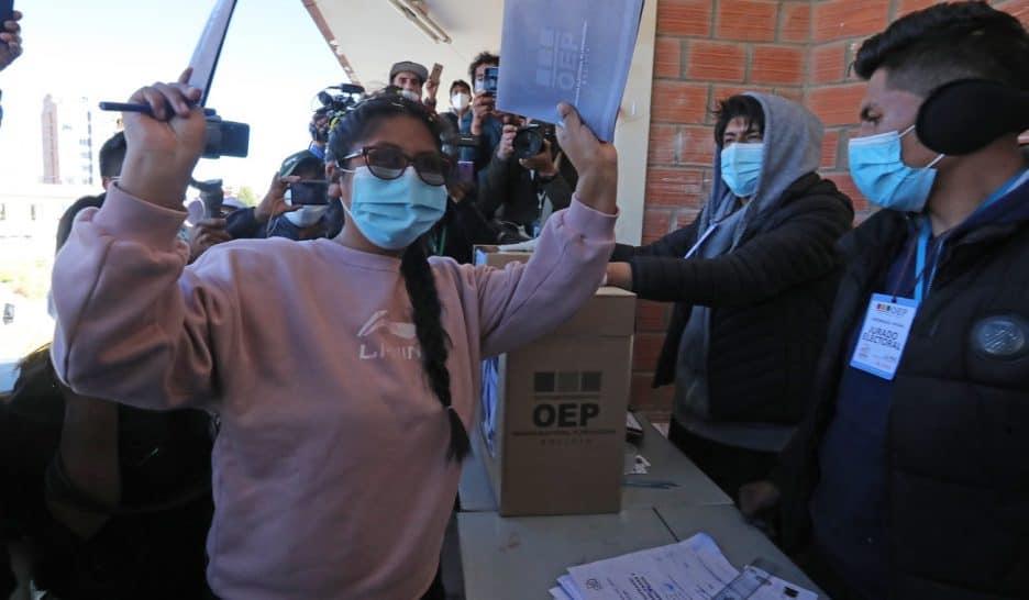 Eva Copa votations subrégionales boliviennes 2021