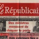 Le Républicain Togo Une