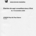 Paul Aymon prophète bulletin de vote