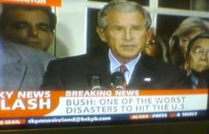sky news bush is a disaster