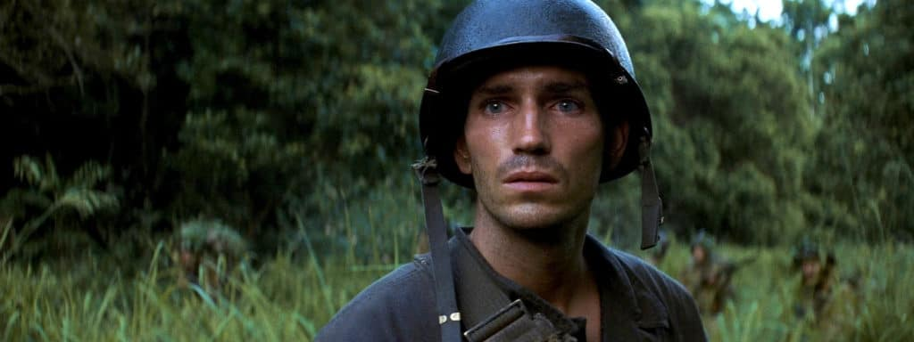 jim caviezel in the thin red line by terrence malick
