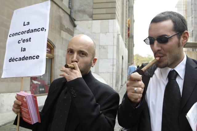 UDC, et xénophobie suisse : et si la meilleure arme était l'humour ? Compte rendu manif à Genève