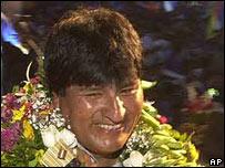 Evo Morales, premier président indigène de Bolivie