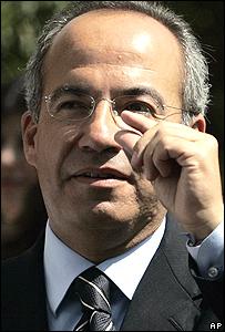 Calderon, nouveau président du Mexique