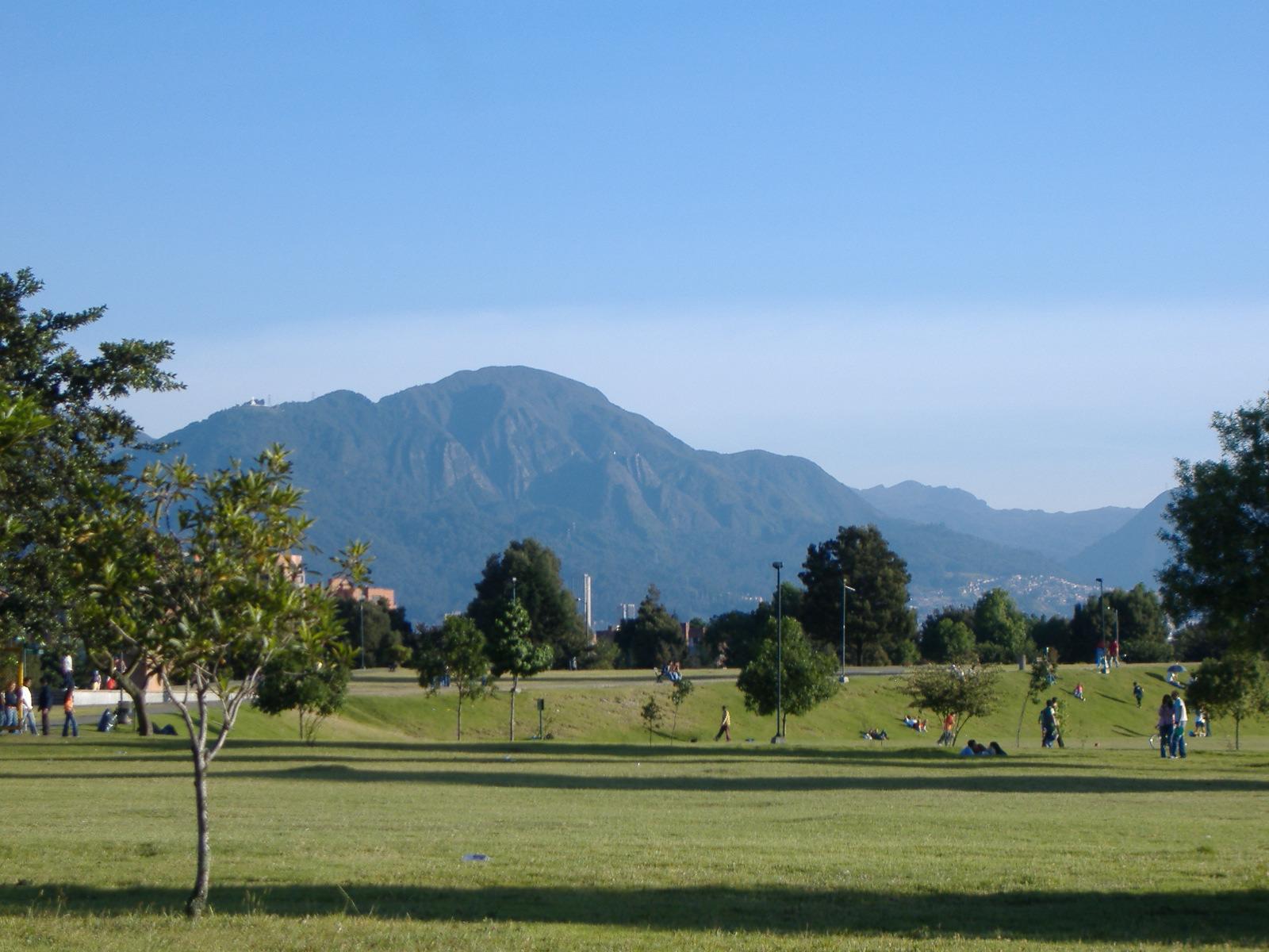 Bogotà¡, depuis le parc Simon Bolivar